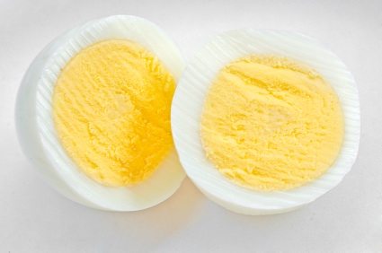 hard boiled egg isolated on white